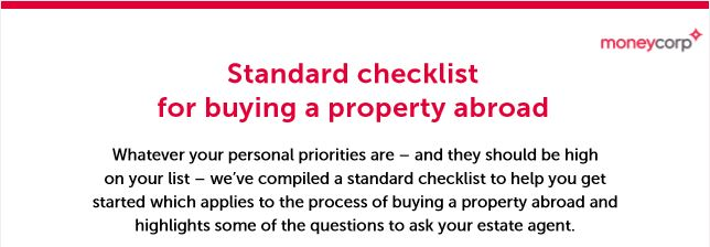 Checklist for buying property abroad