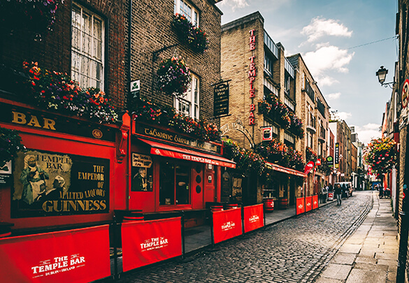 Have a drink or a bite to eat at Temple Bar District
